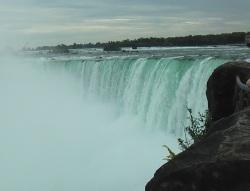 Niagarafaelle Kanada seitlicher Blick